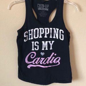 "Graphic Tank ""Shopping is My Cardio"""